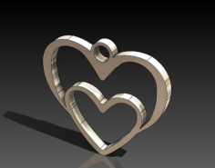 heart in heart Free Dxf for CNC