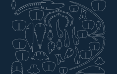 langust iz fanery (palinurus) Free Dxf for CNC