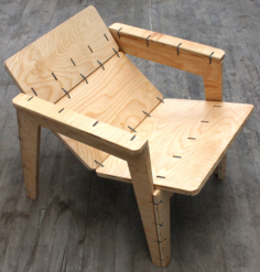 ziptie lounge chair Free Dxf for CNC