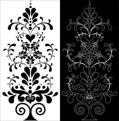 decorative floral pattern Free Dxf for CNC