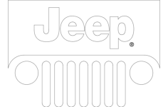 jeep logo Free Dxf for CNC