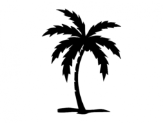 palm tree Free Dxf for CNC