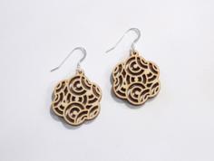 oriental earrings Free Dxf for CNC
