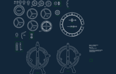 clock.Free Dxf for CNC