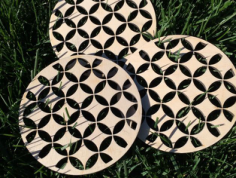 wooden trivet shippo Free Dxf for CNC