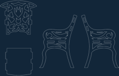 fancy chair Free Dxf for CNC