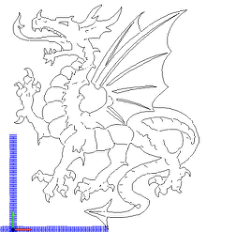 dragon-1 Free Dxf for CNC