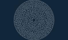 circular maze 50×5 o Free Dxf for CNC
