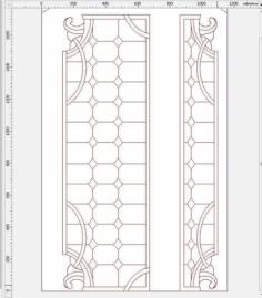 door design 15 Free Gcode .TAP File for CNC