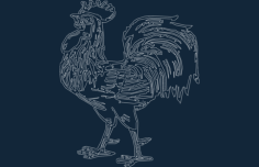 rooster-1.Free Gcode .TAP File for CNC