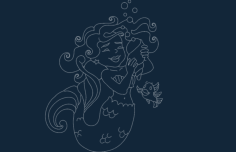 mermaid Free Gcode .TAP File for CNC
