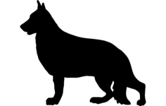 german shepherd Free Gcode .TAP File for CNC