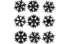 snowflakes Free Gcode .TAP File for CNC