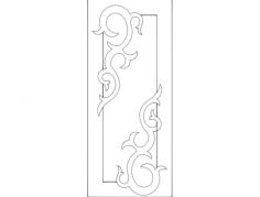 door design 4 Free Gcode .TAP File for CNC