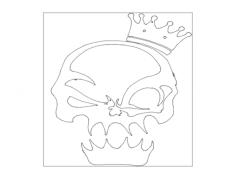 król czaszek Free Gcode .TAP File for CNC
