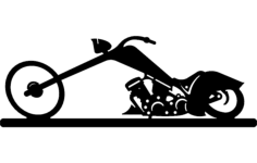 chopper bike Free Gcode .TAP File for CNC
