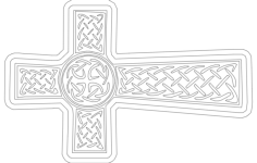 christian cross Free Gcode .TAP File for CNC