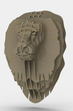 lion head Free Gcode .TAP File for CNC