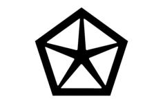 chrysler old logo Free Gcode .TAP File for CNC