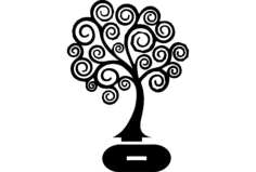 tree 3d puzzle Free Gcode .TAP File for CNC