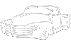 chevy Free Gcode .TAP File for CNC