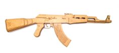 ak 47 Free Gcode .TAP File for CNC