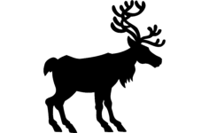 deer silhouette vector Free Gcode .TAP File for CNC