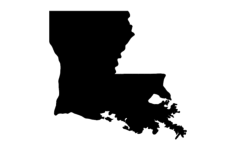 louisiana map Free Gcode .TAP File for CNC