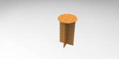 10 mm mdf chair stool Free Gcode .TAP File for CNC