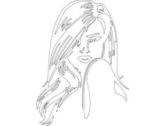 modern girl Free Gcode .TAP File for CNC