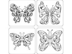 borboletas Free Gcode .TAP File for CNC