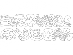 skorpion 3d puzzle Free Gcode .TAP File for CNC