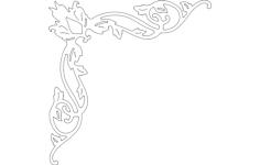 corner decoration Free Gcode .TAP File for CNC