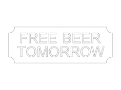 free beer Free Gcode .TAP File for CNC