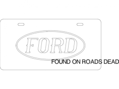 ford plate Free Gcode .TAP File for CNC
