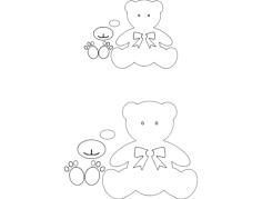 bear Free Gcode .TAP File for CNC