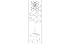 rose metal 3d Free Gcode .TAP File for CNC