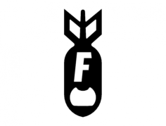 f bomb bottel opener 1.75 x 5.0 Free Gcode .TAP File for CNC