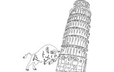 pisa tower Free Gcode .TAP File for CNC