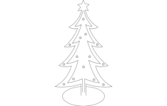 christmas tree Free Gcode .TAP File for CNC