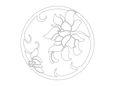 flowers round Free Gcode .TAP File for CNC