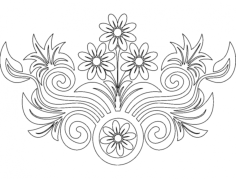flower design Free Gcode .TAP File for CNC