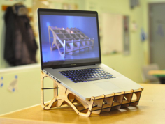 laptop stand Free Gcode .TAP File for CNC