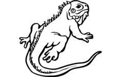 lizard animal Free Gcode .TAP File for CNC