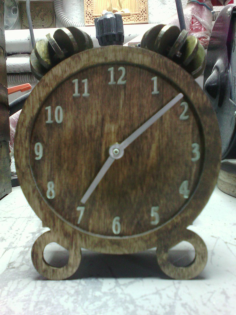 clock 3d Free Gcode .TAP File for CNC