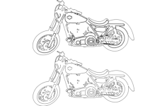 motorcycle Free Gcode .TAP File for CNC