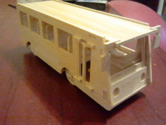bus Free Gcode .TAP File for CNC