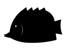 fish silhouette Free Gcode .TAP File for CNC