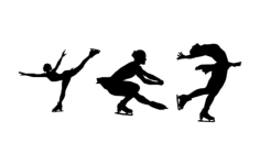 figure skaters Free Gcode .TAP File for CNC