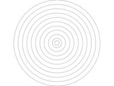 bullseye Free Gcode .TAP File for CNC